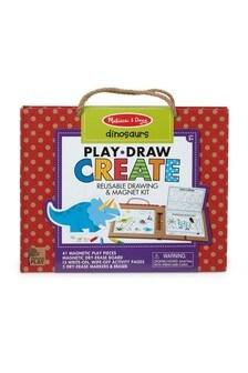 Melissa & Doug Dinosaurs Reusable Drawing And Magnet Kit