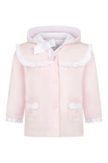 Patachou Baby Girls Pink Cotton Coat