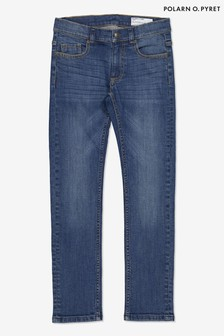 Polarn O. Pyret Blue Organic Cotton Slim Fit Jeans