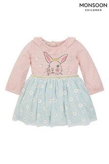 Monsoon Green Newborn Bunny Disco Dress