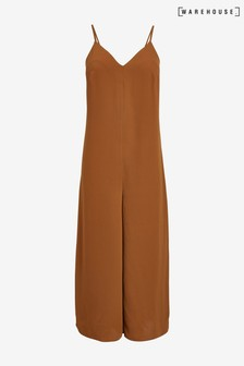 Warehouse Orange Cami Culotte Jumpsuit