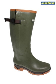 Goodyear Neoprene Lined Wellington Boots With Zip