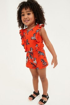 Organic Cotton Short Playsuit (3mths-7yrs)