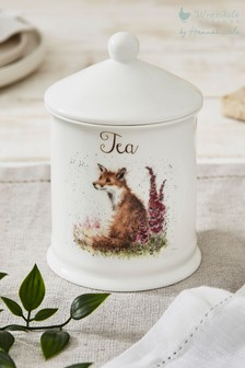 Royal Worcester Wrendale Fox Tea Storage Jar