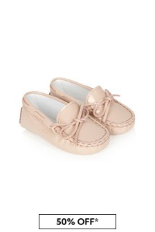 Tods Baby Girls Pink Leather Loafers
