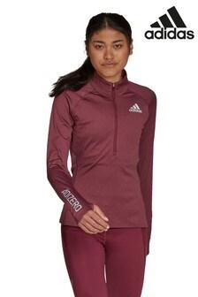adidas Adizero 1/2 Zip Long Sleeve TShirt