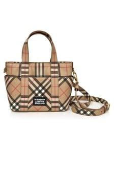 Burberry Kids Girls Beige Tote Bag
