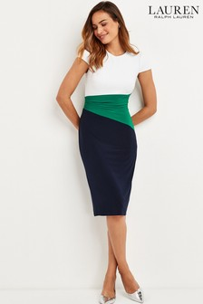 Lauren Ralph Lauren® Navy Green Fenton Dress