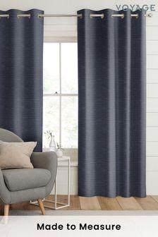 Jasper Indigo Blue Made To Measure Curtains