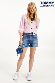 Tommy Jeans Blue Denim Hotpant Shorts