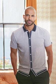 Button Through Polo Shirt