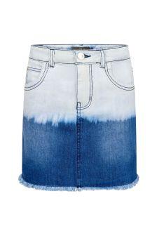 Guess Girls Blue Cotton Skirt