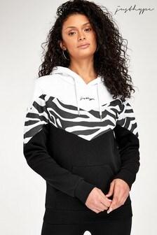 Bluza z kapturem Hype. ze wzorem szewronu i motywem zebry