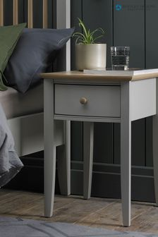 Whitby Scandi Oak Grey 1 Drawer Nightstand by Bentley Designs