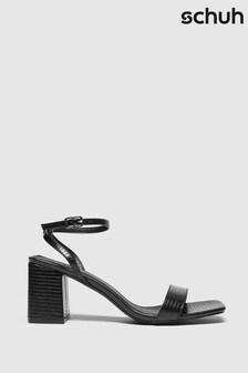 Schuh Black Sienna Block Heel Sandals