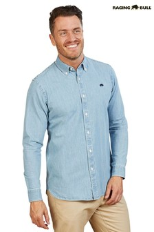 Raging Bull Blue Light Washed Denim Shirt