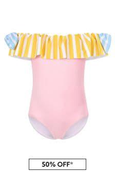 Simonetta Girls Pink Swimsuit