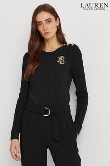 Lauren Ralph Lauren® Cotton Cable Crest Logo Montiva Jumper