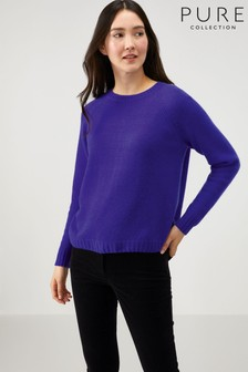 Pure Collection Purple Cashmere Lofty Sweatshirt