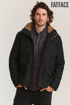 FatFace Grey Broadsands Wool Blend Jacket