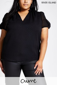 River Island Black Spot Sara Top