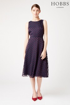 Hobbs Blue Adeline Dress