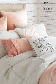 Peri Home Chenille Trimmed Lattice Pillowcase