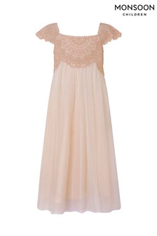 Monsoon Pink Estella Sparkle Dress