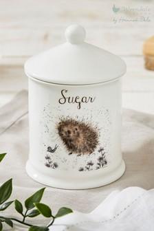 Royal Worcester Wrendale Hedgehog Sugar Storage Jar