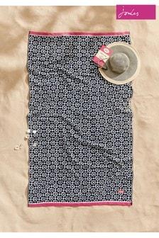 Joules Geo Tile Cotton Beach Towel