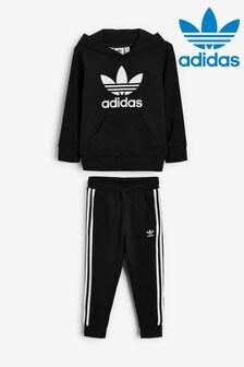 adidas Originals Little Kids Trefoil Hoodie And Joggers Tracksuit
