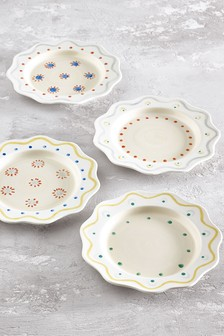 Callie Set of 4 Side Plates Hand Painted