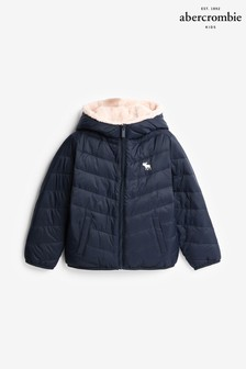 Abercrombie & Fitch Navy/Pink Padded Jacket