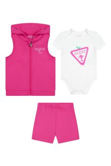Guess Baby Girls Pink Cotton Set