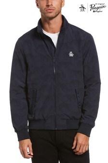 Original Penguin® Blue Leopard Windbreaker Jacket
