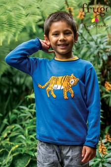 Frugi Organic Cotton Blue Tiger Jumper
