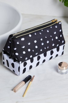 Monochrome Folded Cosmetics Bag