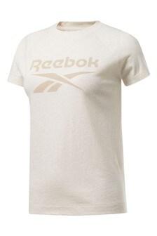 Reebok Cream Logo Texture T-Shirt