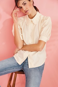 Sparkle Collar Shirt