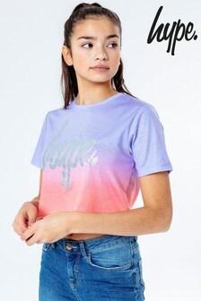 Hype. Peach Fade Cropped T-Shirt