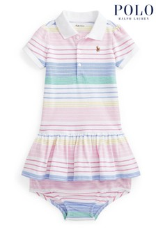 Ralph Lauren Multicoloured Stripe Polo Dress