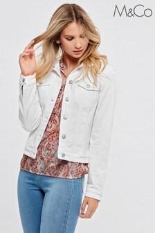 M&Co White Denim Western Jacket