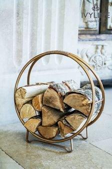 Antique Gold Round Log Storage by Ivyline