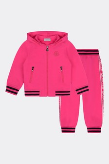 Girls Fuchsia Cotton Tracksuit