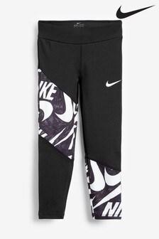 Nike Little Kids Black/White Markermash Leggings