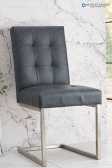 Set of 2 Tivoli Cantilever Leather Chairs by Bentley Designs