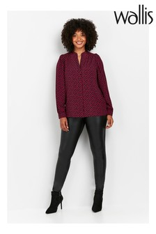 Wallis Black PU Ponte Leggings