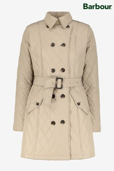 Barbour® Tartan Beige Quilted Cornell Trench Coat