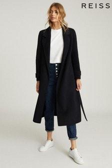 Reiss Leah Wool Blend Longline Overcoat