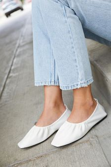 Ruched Ballerina Shoes
